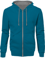 Hoodie two-tone with zip