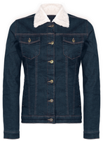 Sherpa-lined Denim Jacket Women