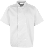 Short Sleeves Kitchen Jacket with Snap Buttons
