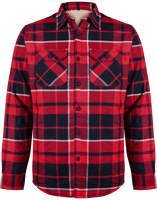 Sherpa-lined checked SHIRT JACKET