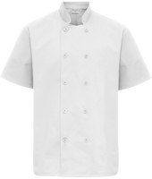 Chef's Jacket mixed short sleeves
