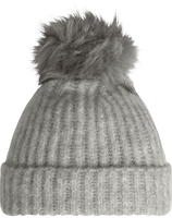 Beanie with Fur Pompon