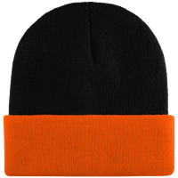 Two-tone beanie with cuff