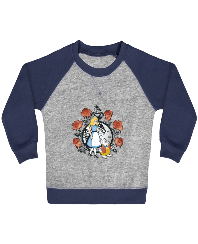 Sweatshirt Baby crew-neck sleeves contrast raglan Time for Wonderland by Kempo24