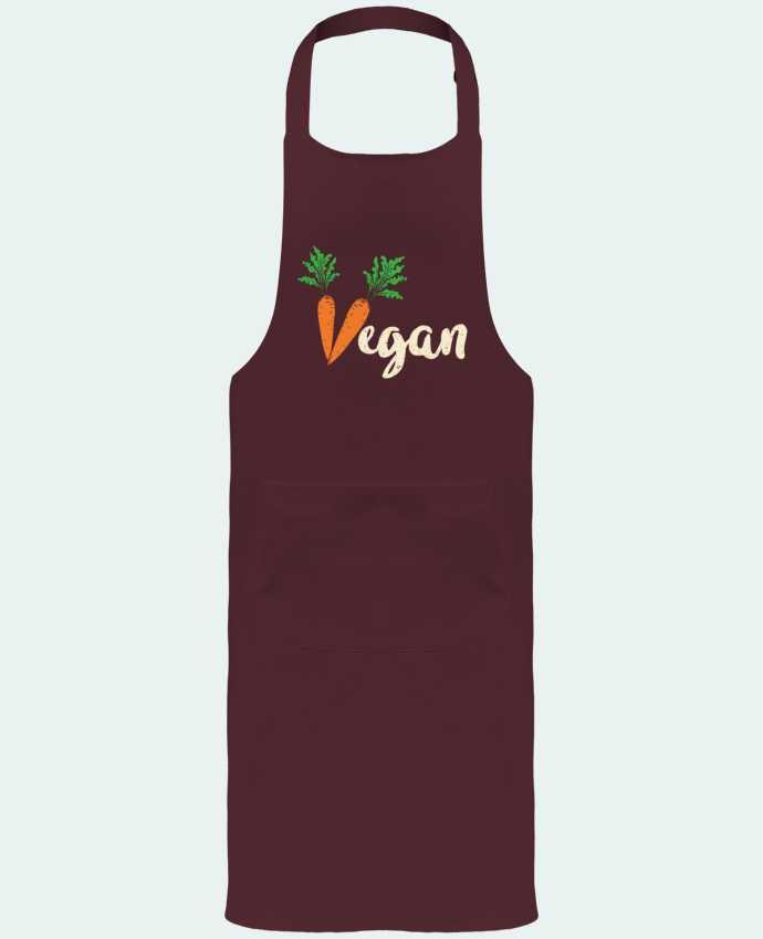 Garden or Sommelier Apron with Pocket Vegan carrot by Bichette