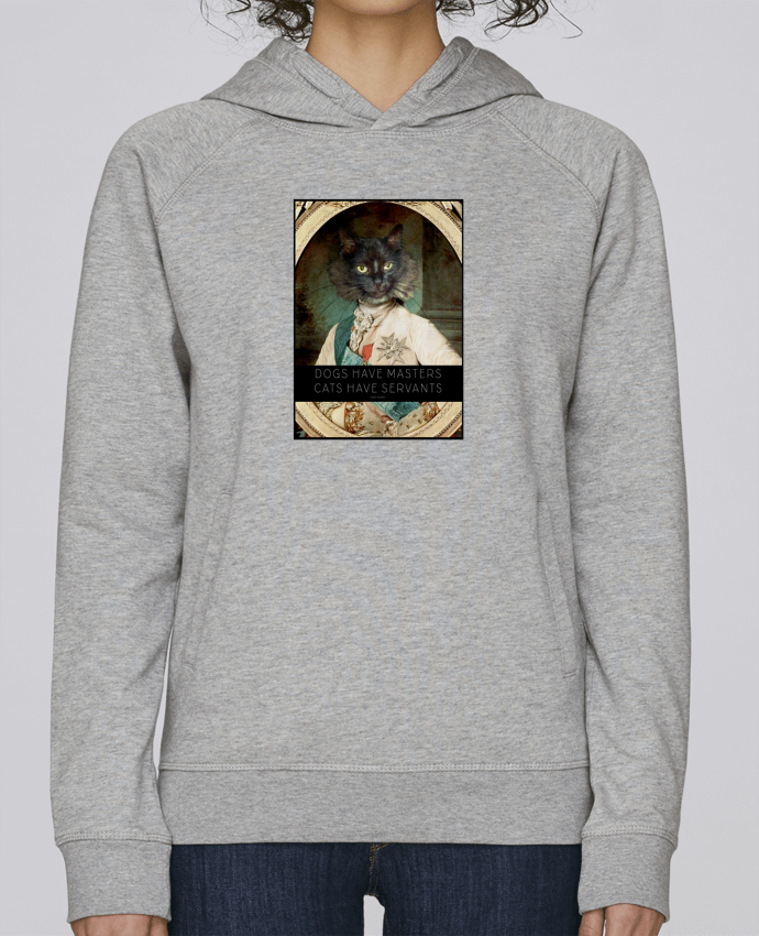 Hoodie Raglan sleeve welt pocket King Cat by Tchernobayle