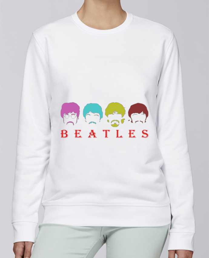 Unisex Sweatshirt Crewneck Medium Fit Rise BEATLES by LOGOPAT