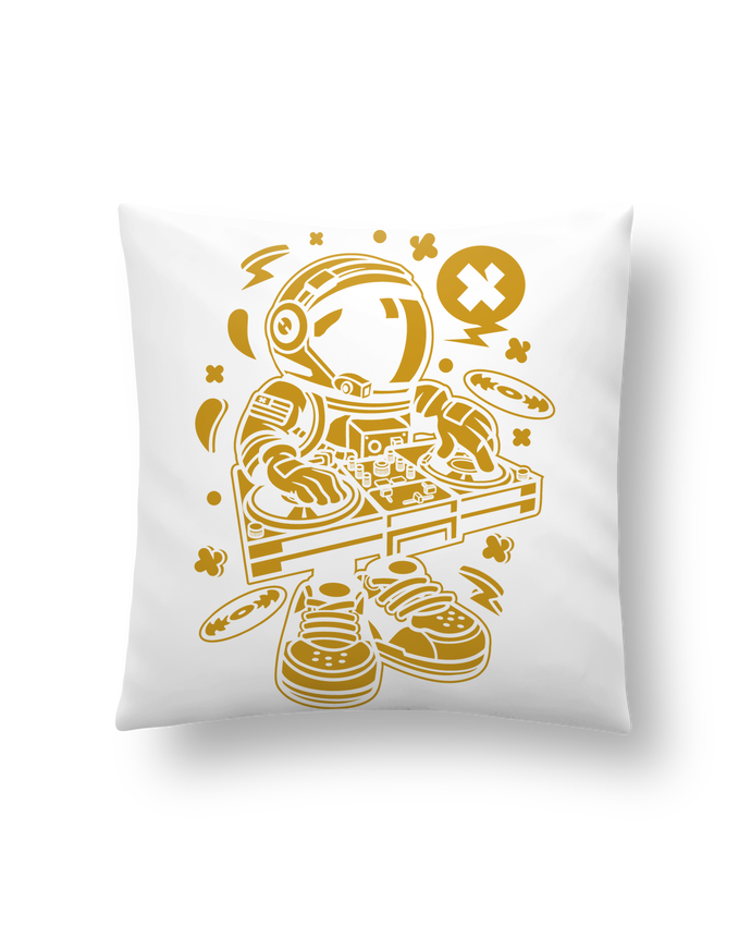 Cushion synthetic soft 45 x 45 cm Dj Astronaute Golden Cartoon | By Kap Atelier Cartoon by Kap Atelier