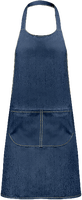 Apron with pocket denim
