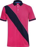 Polo Shirt Women diagonal strip