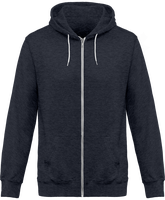 Hoodie with Zip heather effect