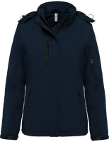 Softshell Parka Lined with Removable Hood