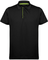 Short-sleeved piqué polo shirt