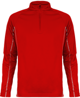 Men's zip neck running sweatshirt