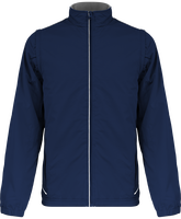 Lined jacket with detachable sleeves