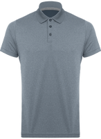 Adult short-sleeved marl polo shirt