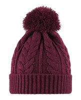 Bobble Hat Knitted Twist reversible