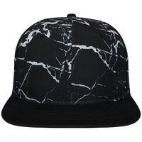 Snapback Cap black mineral Crown pattern