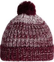 Pompom Beanie whit knitted effect