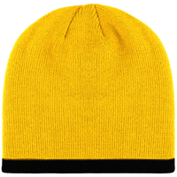 Beanie with contrasttwo-tone band