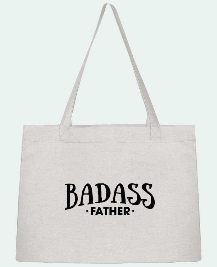 Shopping tote bag Stanley Stella Badass Father by tunetoo