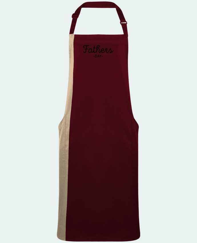 Two-tone long Apron Father's day by  tunetoo