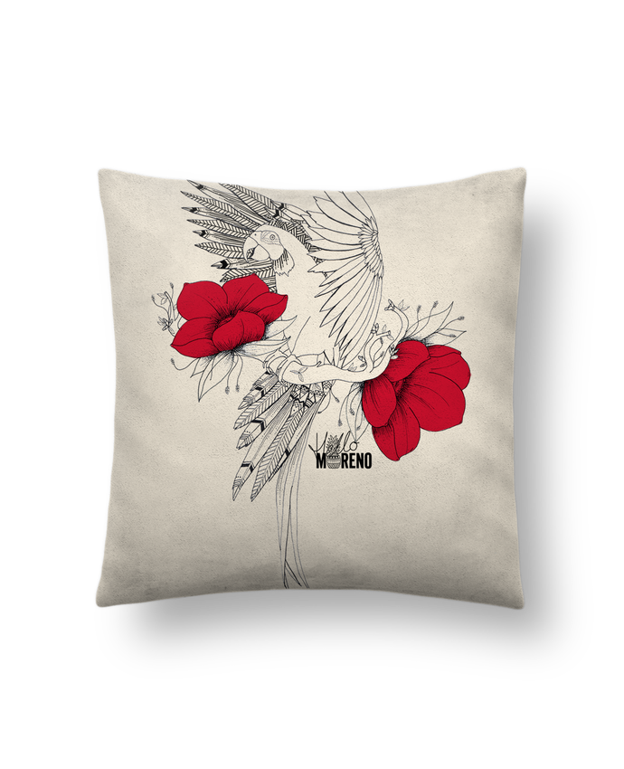 Cushion suede touch 45 x 45 cm EXOTIC PARROT by Hello Moreno