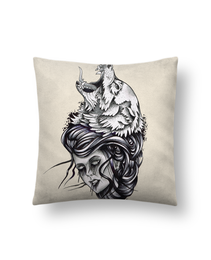 Cushion suede touch 45 x 45 cm Femme & Loup by david