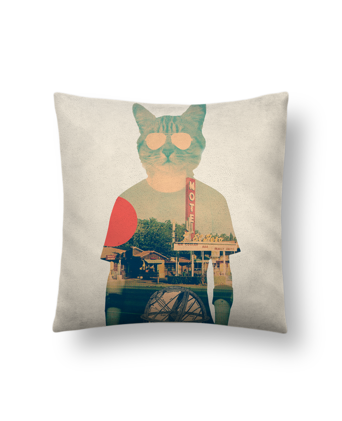 Cushion suede touch 45 x 45 cm Cool cat by ali_gulec