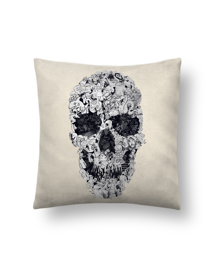 Cushion suede touch 45 x 45 cm Doodle bw by ali_gulec