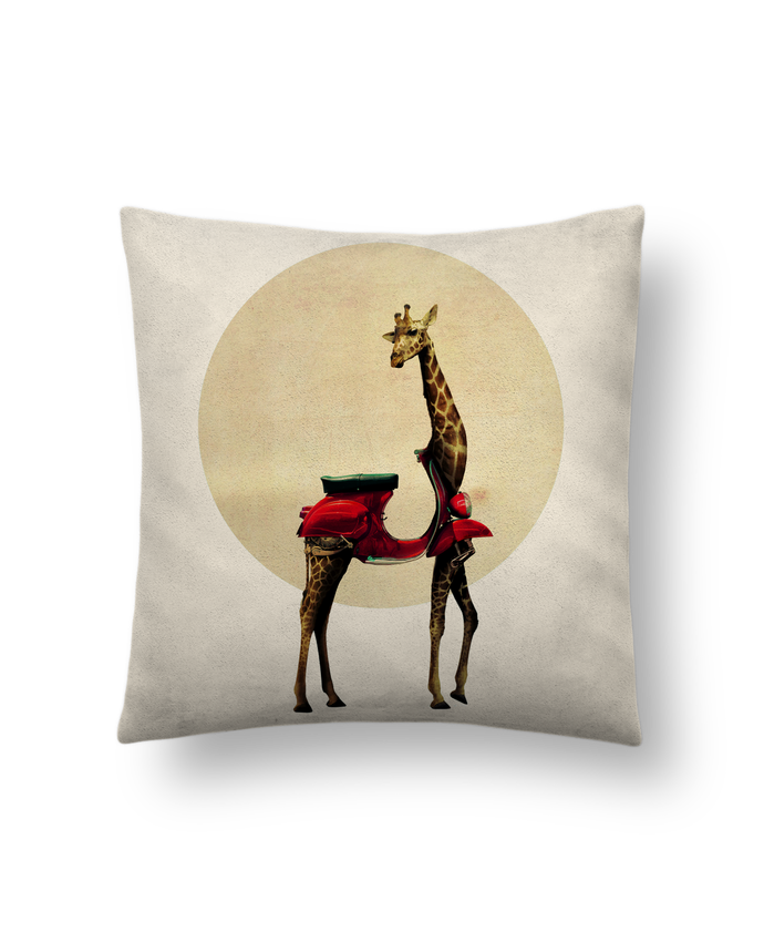 Cushion suede touch 45 x 45 cm Giraffe by ali_gulec