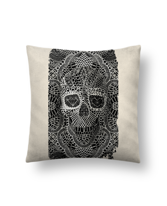 Cushion suede touch 45 x 45 cm Lace skull by ali_gulec