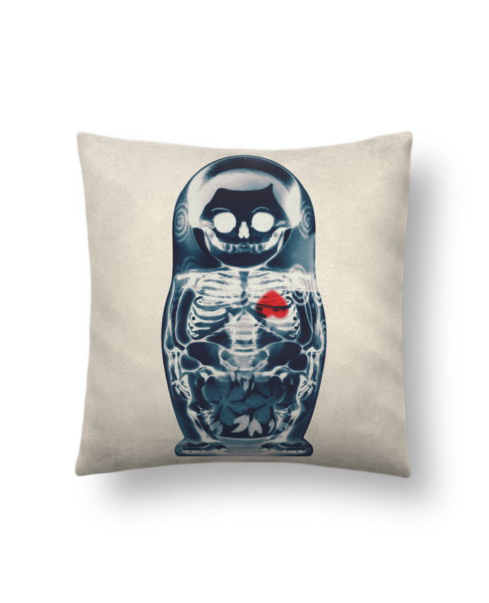Cushion suede touch 45 x 45 cm Nesting doll by ali_gulec