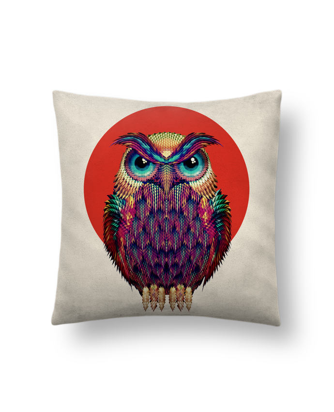 Cushion suede touch 45 x 45 cm Owl by ali_gulec