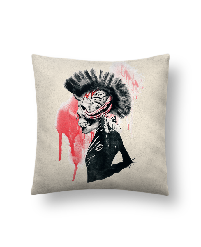 Cushion suede touch 45 x 45 cm Punk by ali_gulec