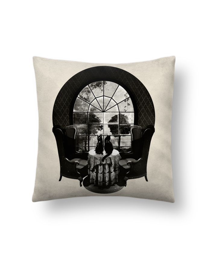 Cushion suede touch 45 x 45 cm Room skull by ali_gulec