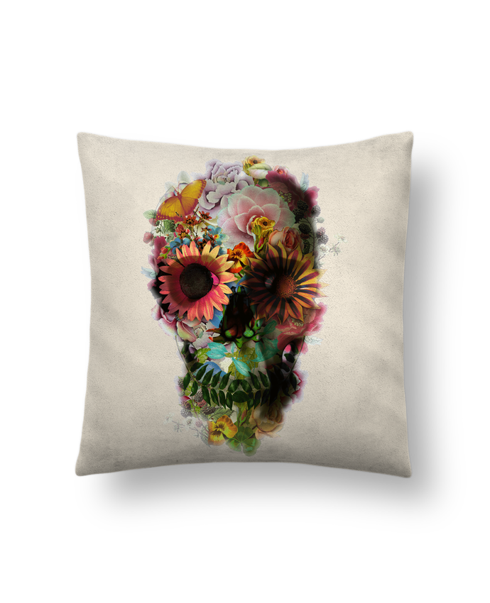 Cushion suede touch 45 x 45 cm Skull 2 by ali_gulec