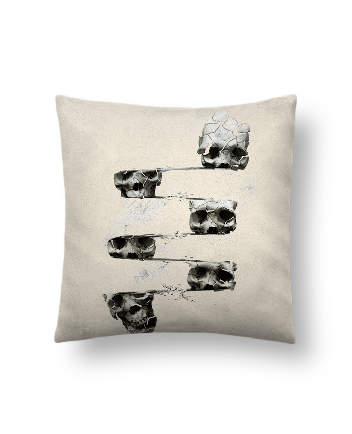 Cushion suede touch 45 x 45 cm Skull 3 by ali_gulec