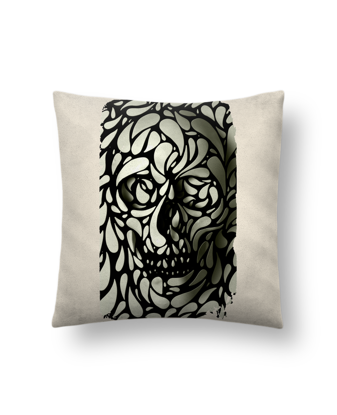 Cushion suede touch 45 x 45 cm Skull 4 by ali_gulec