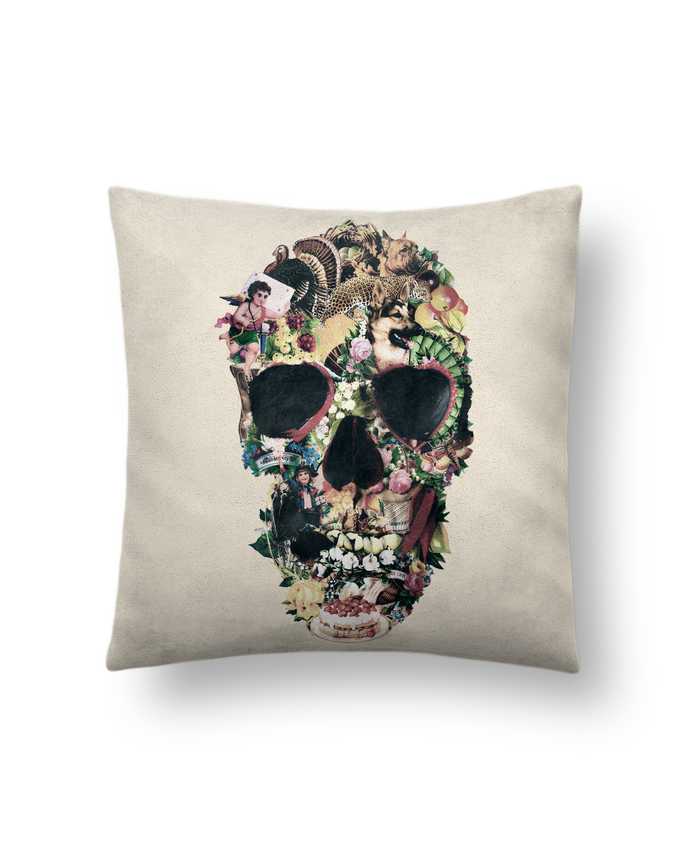 Cushion suede touch 45 x 45 cm Vintage Skull by ali_gulec