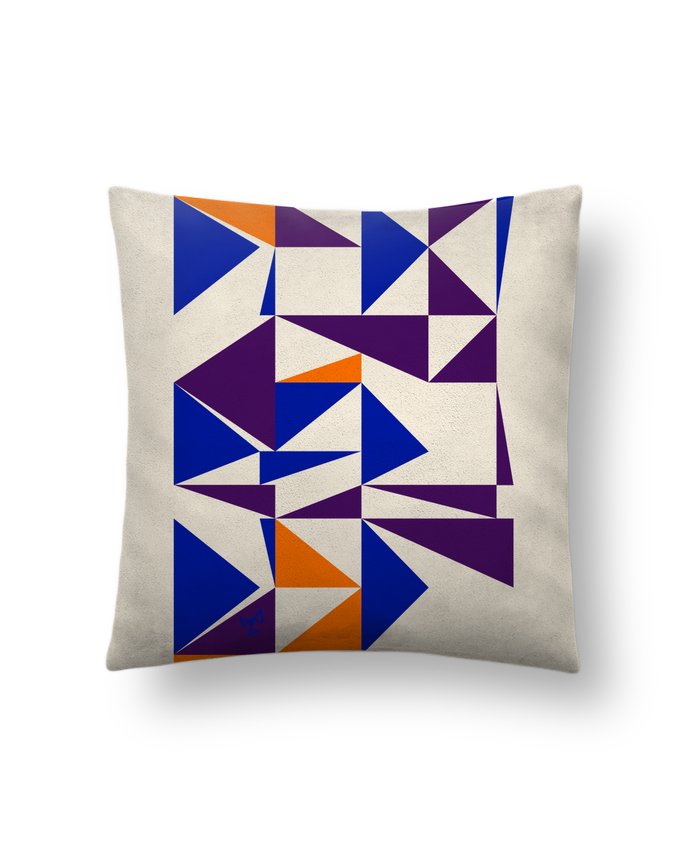 Cushion suede touch 45 x 45 cm Trio de triangles by Chez-Alice