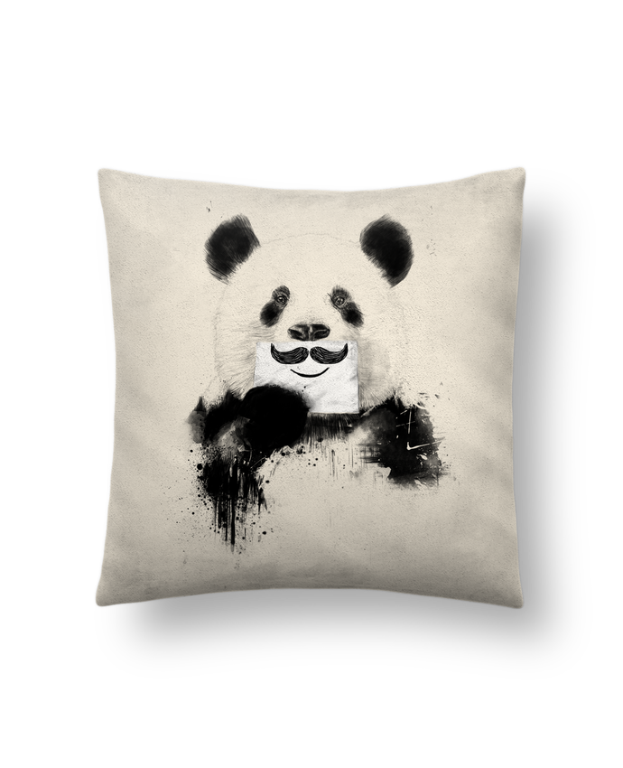 Cushion suede touch 45 x 45 cm Funny Panda by Balàzs Solti
