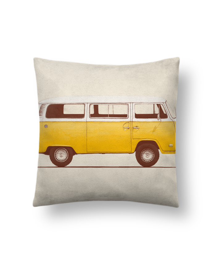 Cushion suede touch 45 x 45 cm Yellow Van by Florent Bodart