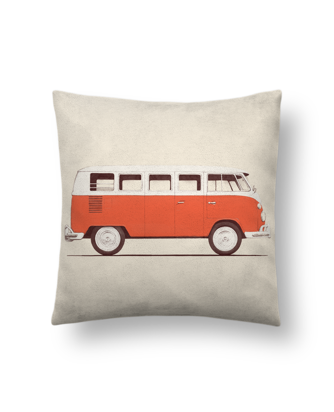 Cushion suede touch 45 x 45 cm Red Van by Florent Bodart