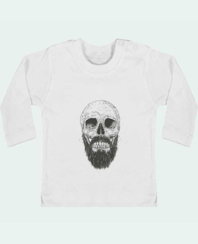 Baby T-shirt with press-studs long sleeve Beard is not dead manches longues du designer Balàzs Solti