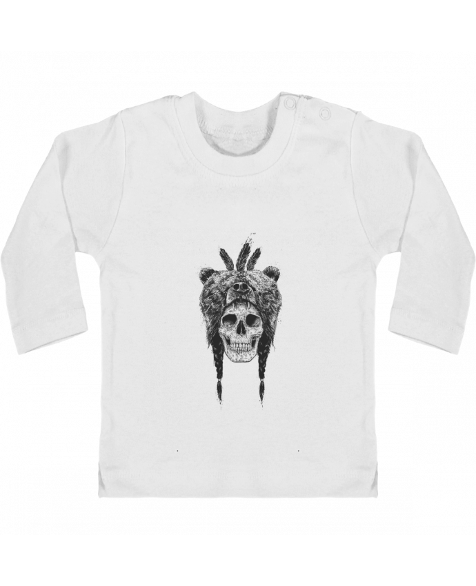 Baby T-shirt with press-studs long sleeve Dead Shaman manches longues du designer Balàzs Solti