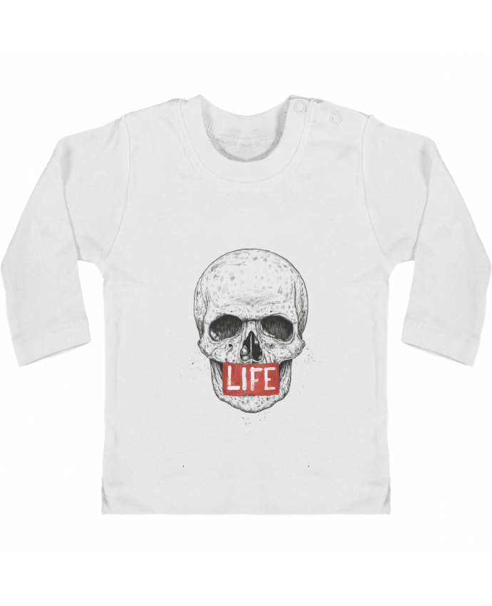 Baby T-shirt with press-studs long sleeve Life manches longues du designer Balàzs Solti