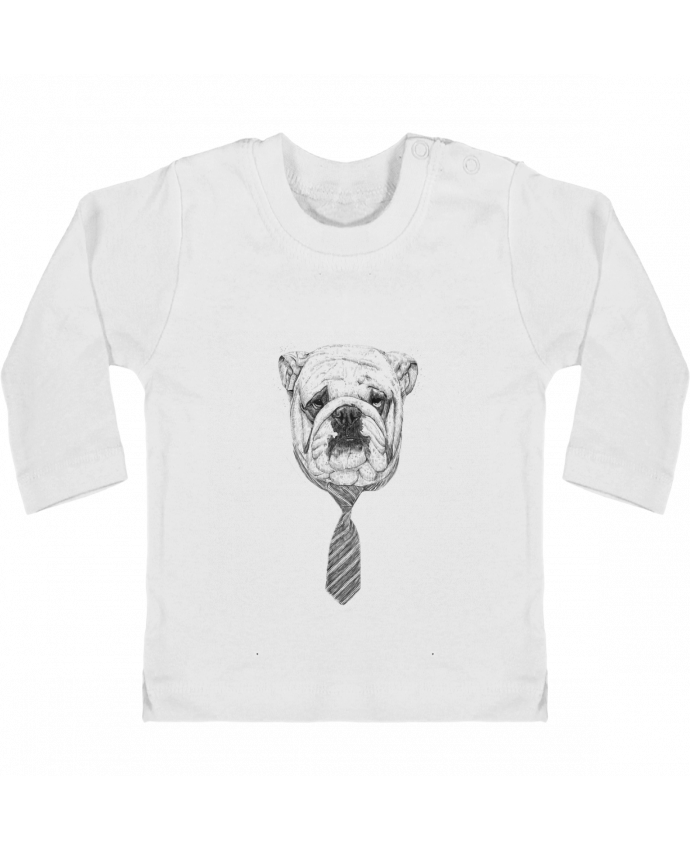 Baby T-shirt with press-studs long sleeve Cool Dog manches longues du designer Balàzs Solti