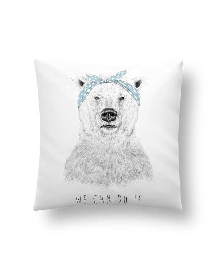 Cushion synthetic soft 45 x 45 cm we_can_do_it by Balàzs Solti