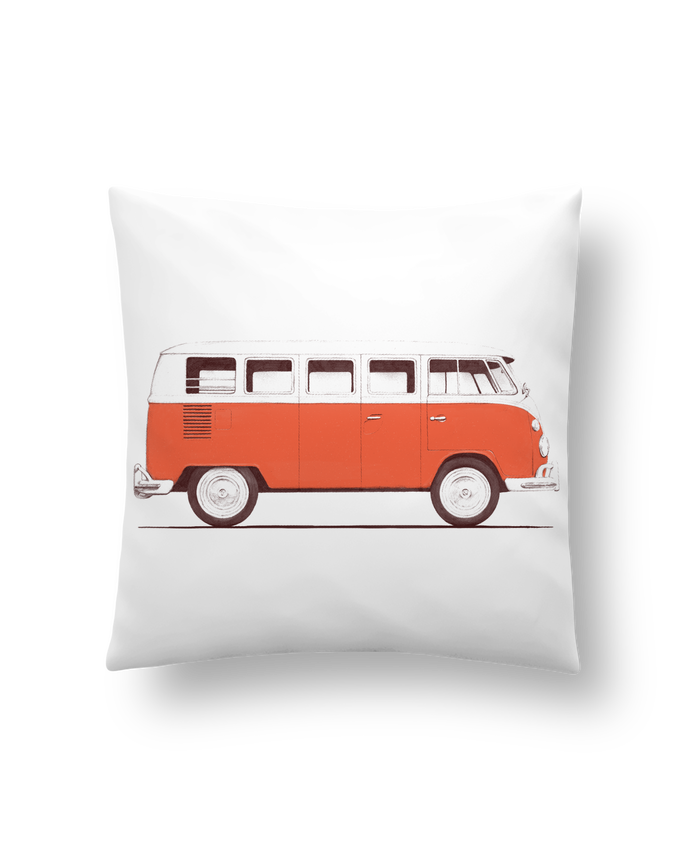 Cushion synthetic soft 45 x 45 cm Red Van by Florent Bodart